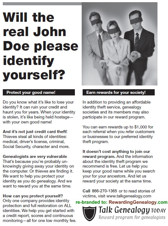 Will the real john doe please identify yourself
